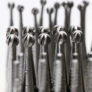 rows of dental burs